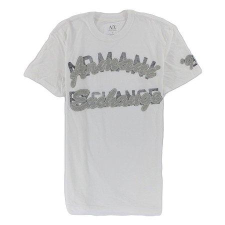 Camiseta Armani Exchange Masculina Patch - White