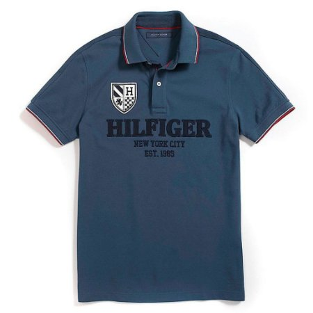 Polo Tommy Hilfiger Masculina NYC Est.1985 Piquet - Navy