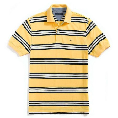 Polo Tommy Hilfiger Masculina Regular Fit Piqué - Yellow