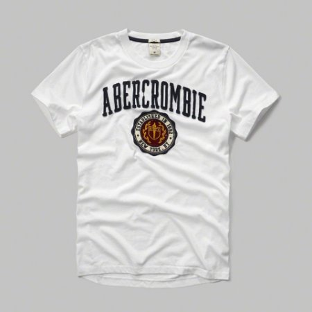 Camiseta Abercrombie & Fitch Masculina Logo Crest Tee - White