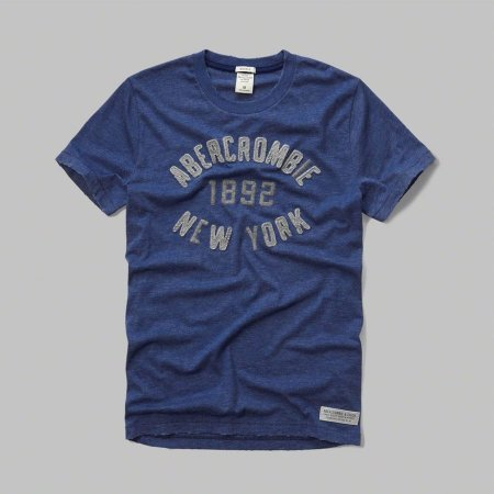 Camiseta Abercrombie & Fitch Masculina 1892 New York - Blue