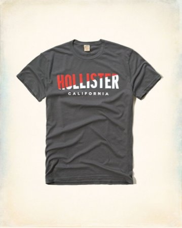 Camiseta Hollister Masculina Graphic Tee - Grey