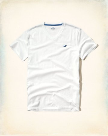 Camiseta Hollister Masculina Must-Have Crew Tee - White