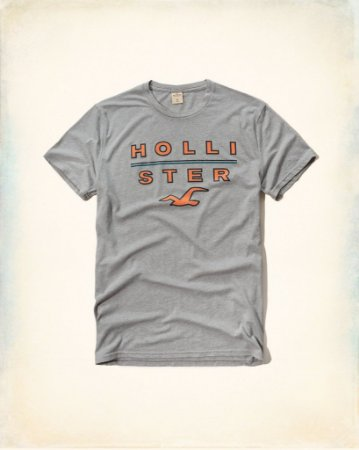 Camiseta Hollister Masculina Graphic Tee - Heather Grey