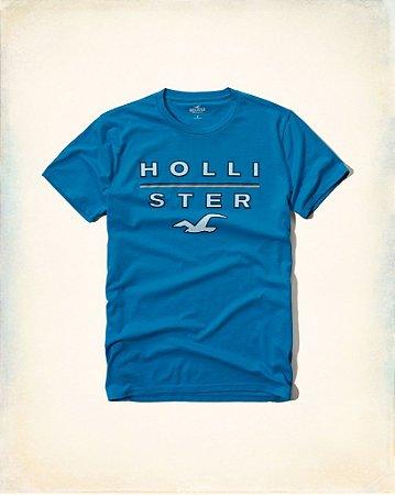Camiseta Hollister Masculina Graphic Tee - Blue