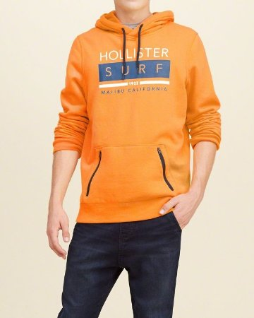 Casaco Hollister Malibu 1922 - Orange
