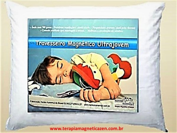 Travesseiro Massageador Magnético UltraJovem Kenko Kanemut by Terapia Magnética Zen (12 cm)
