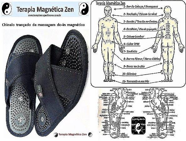 chinelo de massagem do-in magnetico oriental