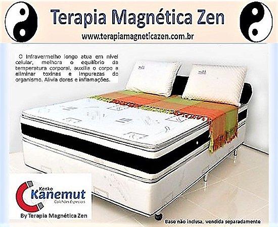 Colchão Terapêutico Kenko Kanemut Magnético e Infravermelho longo  com  pillow top by Terapia Magnética Zen