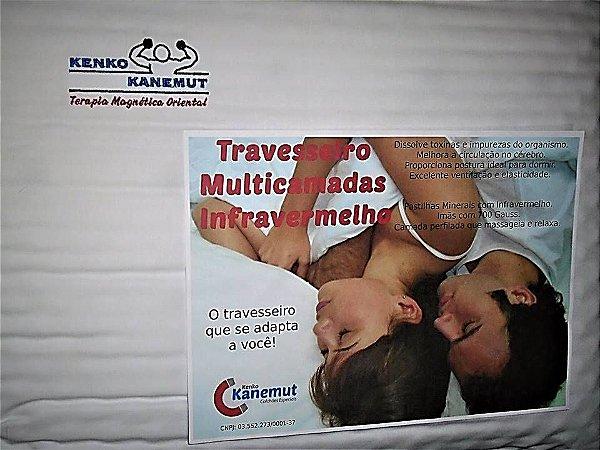 Travesseiro perfilado massageador Magnético, infravermelho longo e Multi Camadas da Kenko Kanemut