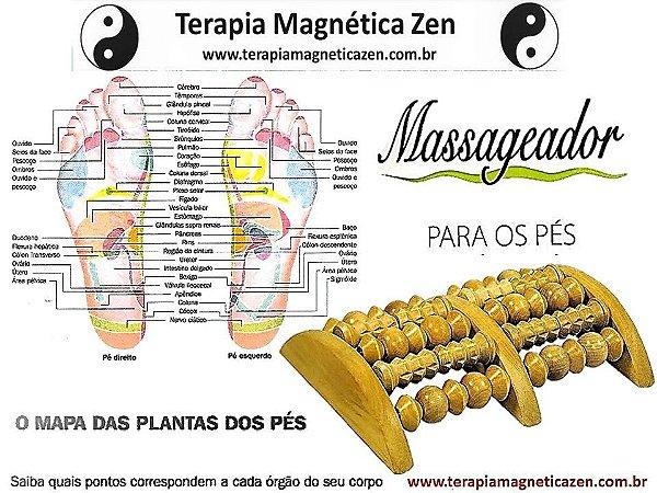 Massageador para os pés em madeira 3 toques terapêuticos