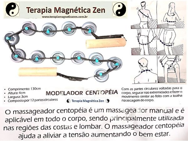 Auto Massageador centopéia by Terapia Magnética Zen