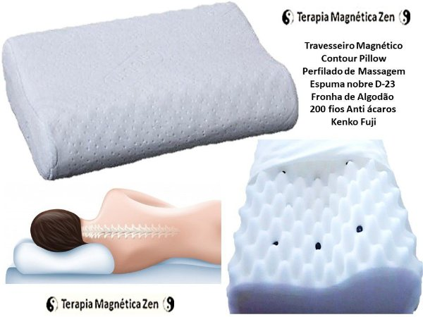 Travesseiro magnético Contour pillow  massageador ortopédico da Kenko Fuji by Terapia Magnética Zen