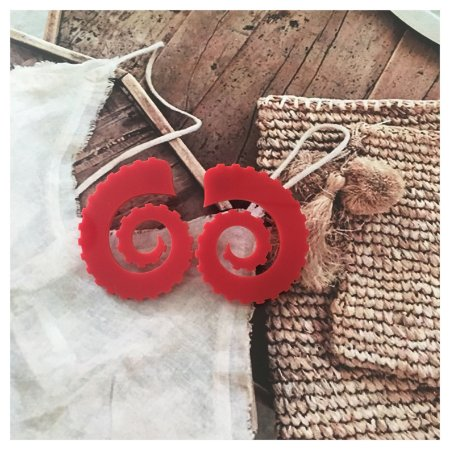 Brinco Octopus Vermelho