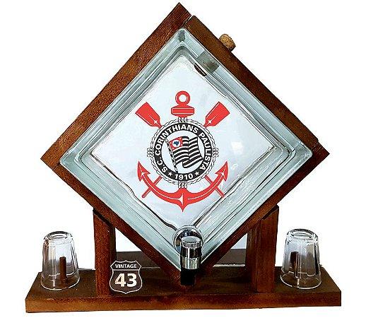Pingometro de Bloco de vidro -  Corinthians