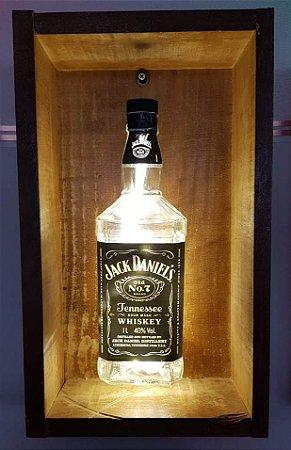 Luminária Jack Daniels com Moldura Led Branca