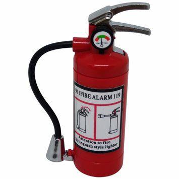 Isqueiro Extintor de Incêndio Recarregável com LED