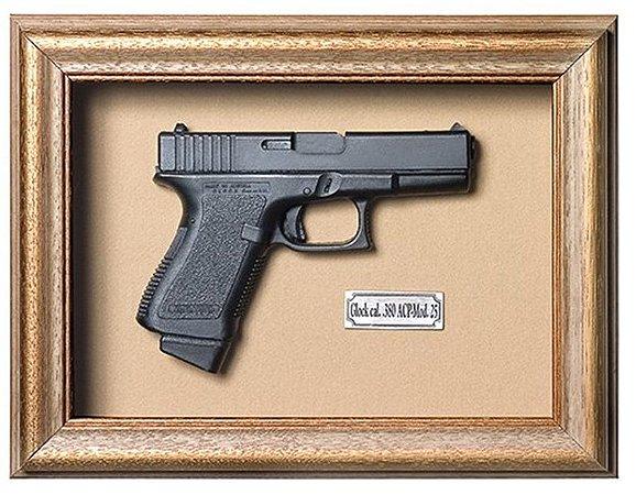 Quadro de Arma Resina Glock cal. .380 ACP-Mod. 25 - Clássico
