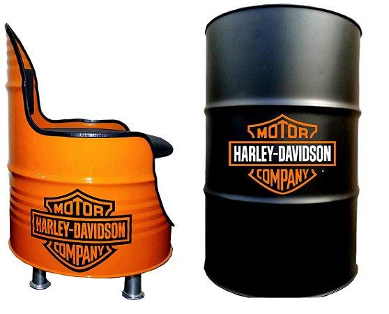 Kit Tema Harley Davidson - Tambor decoartivo Aparador + Poltrona de tambor