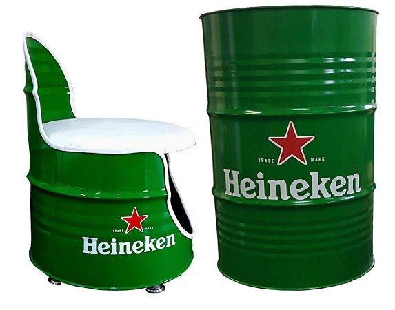 Kit Heineken - Tambor decorativo + Poltrona