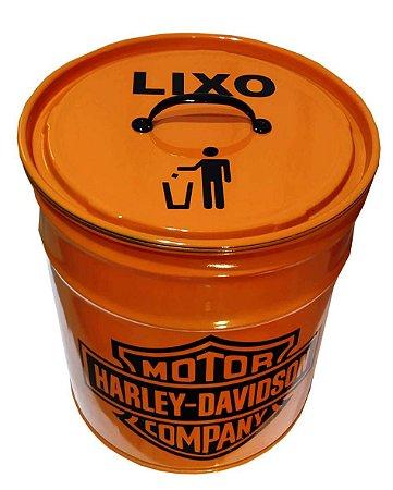 Lixeira de Tambor 20 Litros - Tema Harley Davidson