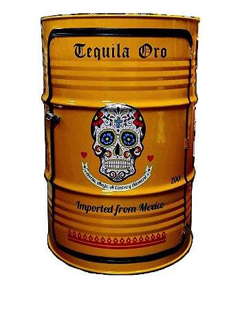 Tambor Barzinho Com Luz de Led - Tequila Ouro