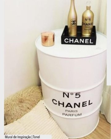 Tambor 200 Litros Chanel Branco
