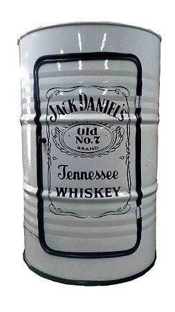 Tambor Barzinho Branco Com Luz de Led - Jack Daniel's