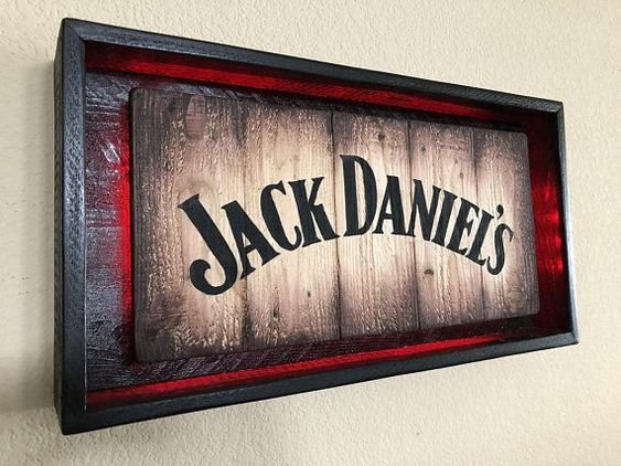 Quadro Jack Daniel's com Led Vermelho