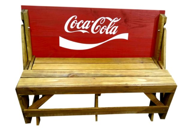 Banco que vira Mesa - Tema Coca Cola - 8 Lugares - 1,80 cm