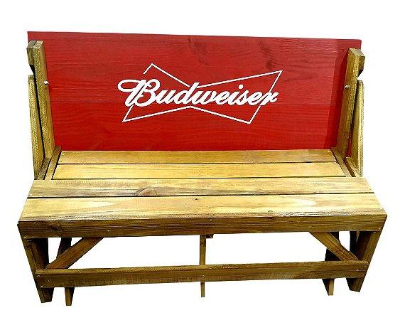 Banco que vira Mesa - Tema Budweiser - 4 Lugares - 1,20 cm