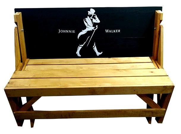 Banco que vira Mesa - Tema Johnnie Walker - 6 Lugares - 1,50 cm
