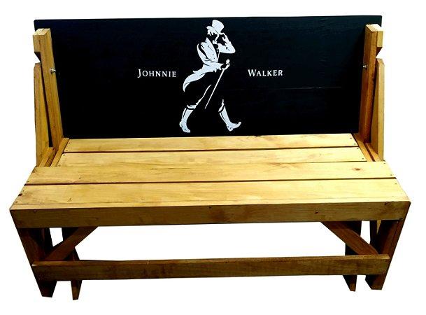 Banco que vira Mesa - Tema Johnnie Walker - 4 Lugares - 1,20 cm