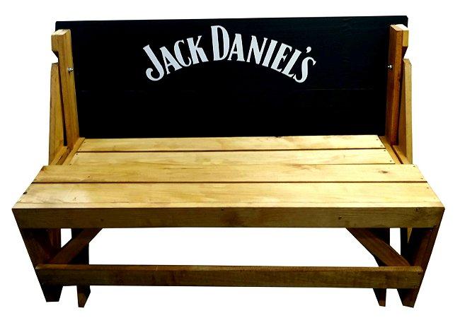 Banco que vira Mesa - Tema Jack Daniel's - 8 Lugares - 1,80 cm