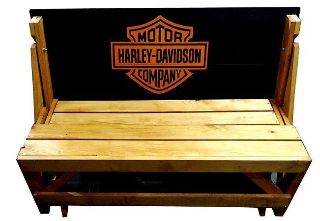 Banco que vira Mesa - Tema Harley Davidson - 4 Lugares - 1,20 cm