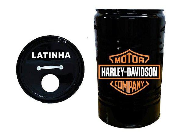 Lixeira de Tambor para Latinhas - Harley Davidson
