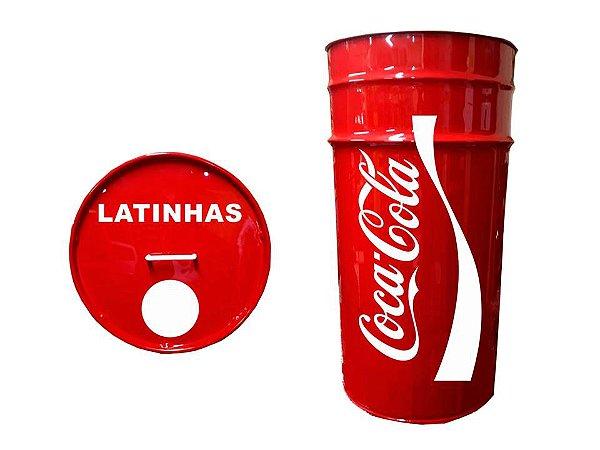 Lixeira de Tambor para Latinhas - Personalizado