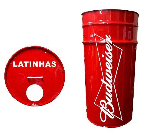 Lixeira de Tambor para Latinhas - Budweiser