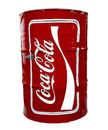 Tambor Barzinho Com Luz de Led - Tema Coca Cola