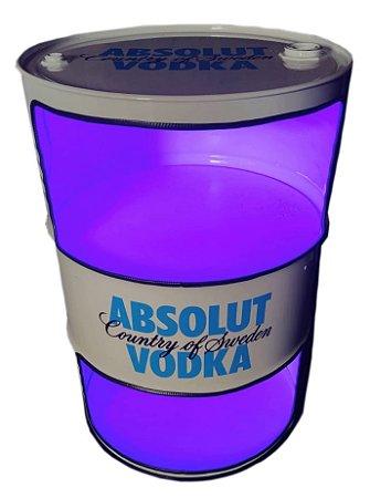 Tambor Barzinho Aberto com Luz de Led - Tema Absolut Vodka