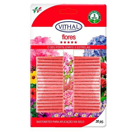 Bastonetes Fertilizantes para Flores vithal do Jardineiro Amador 30pç