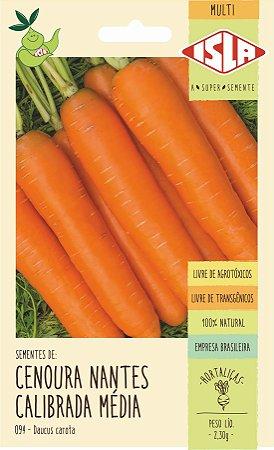 Sementes de Cenoura Nantes Calibrada Média