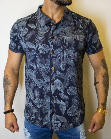 Camisa Tropical Blue
