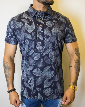Camisa Polo Tropical Blue