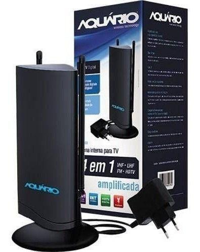 Antena Interna Digital Amplificada Dtv-4600 Aquário Uhf 4k