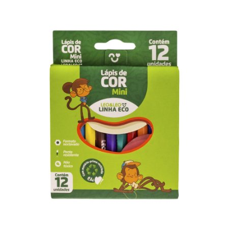 Mini Lápis De Cor 12 Cores