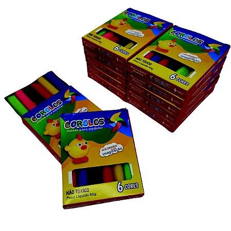 Caixa Master de Massinha de Modelar 6 Cores - Master com 120 unidades