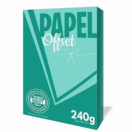 Papel Offset 240g A4 - Pacote c/20 Folhas