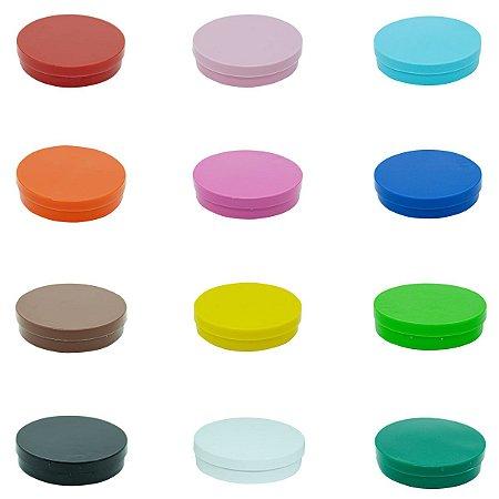 Latinha Plástica Mint To Be 5x1 Colorida - Pacote com 10 unidades