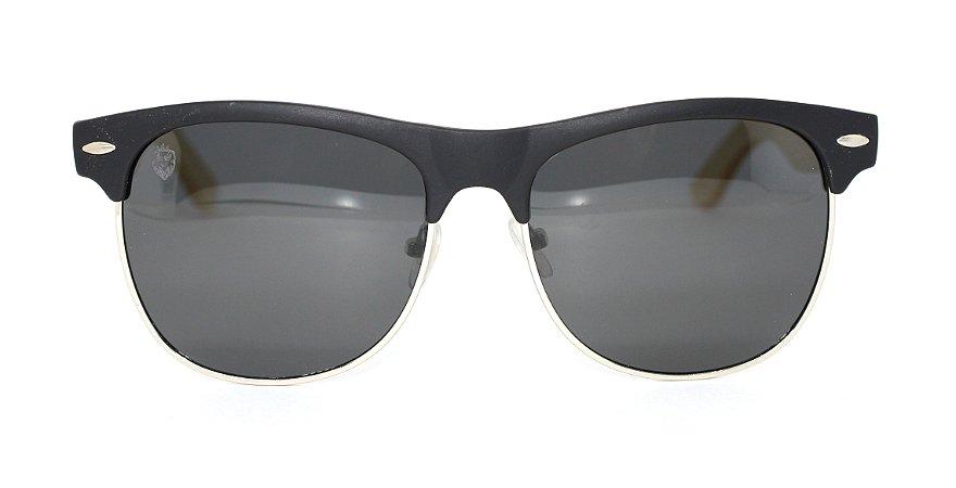 Óculos de Sol de Acetato com Bambu Masseria Black